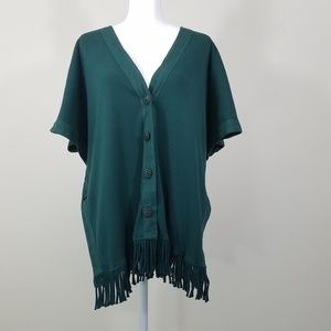 Barbara Lesser Duster Button Down Cardigan Size S